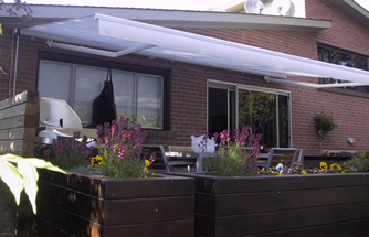 Manual & motor operated retractable awning