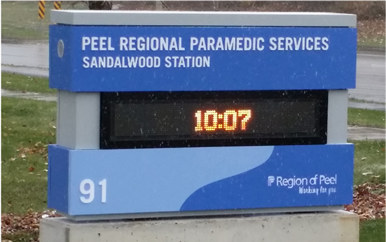 Peel Paramedic Pylon Sign